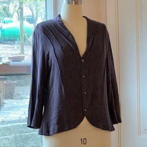 CP Shades deep purple cotton blouse size Medium